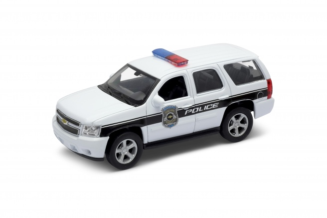 Welly Chevrolet Tahoe 08 Police 1:34 White
